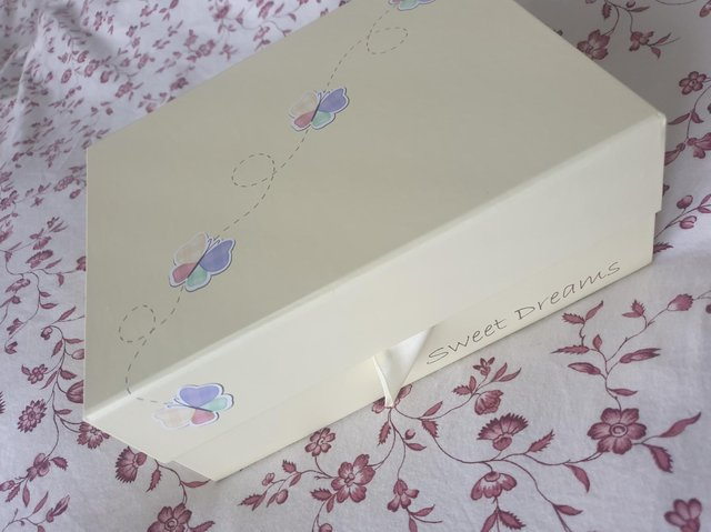 The memory box for baby Harry.