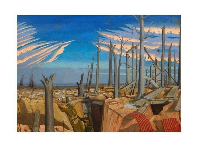 John Nash, Oppy Wood, 1918. Oil on Canvas. © Imperial War Museum