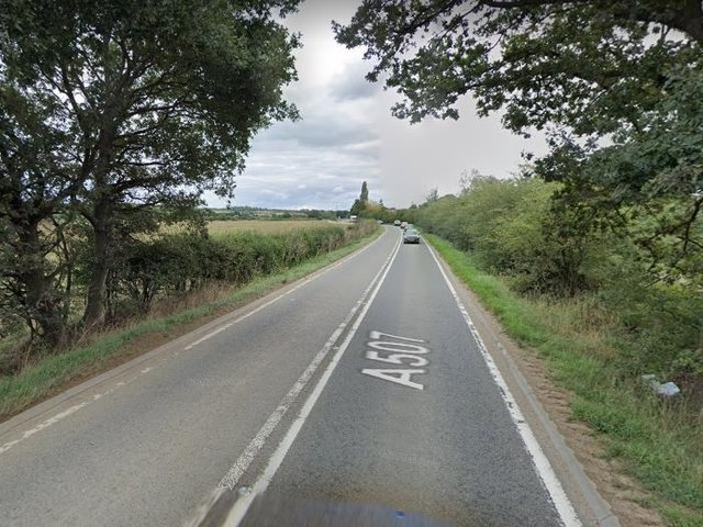 The A507 between Clophill and Chicksands (Google)