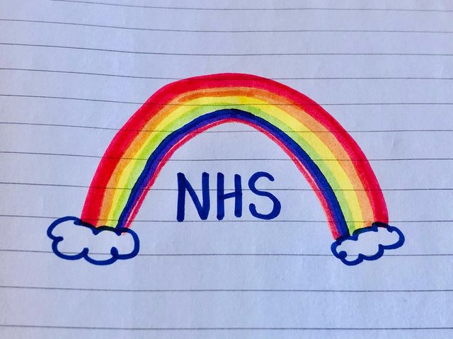 Did you place a rainbow drawing in your window?