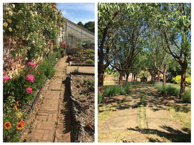 AFTER: the walled garden. Photo: MOD.