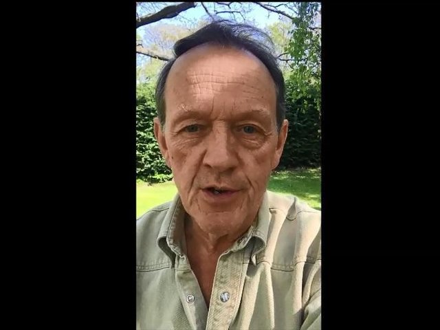 Kevin Whately during the video message