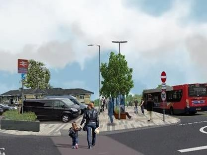 A designer's drawing of the transport interchange. Photo: CBC.