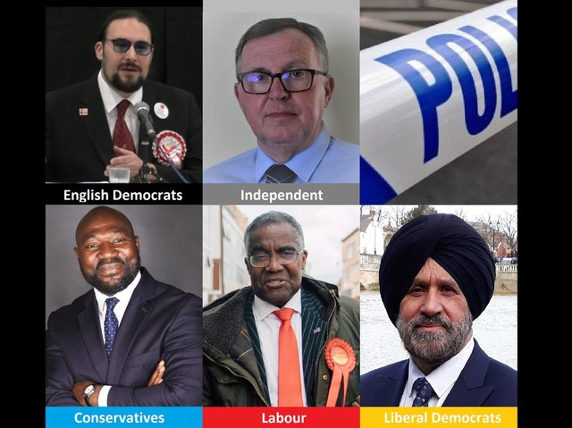 Five candidates are in the running to be Bedfordshire's next police and crime commissioner (PCC)