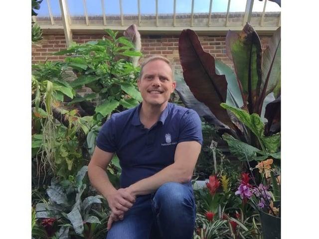 Fairlight Hall head gardener John Myers