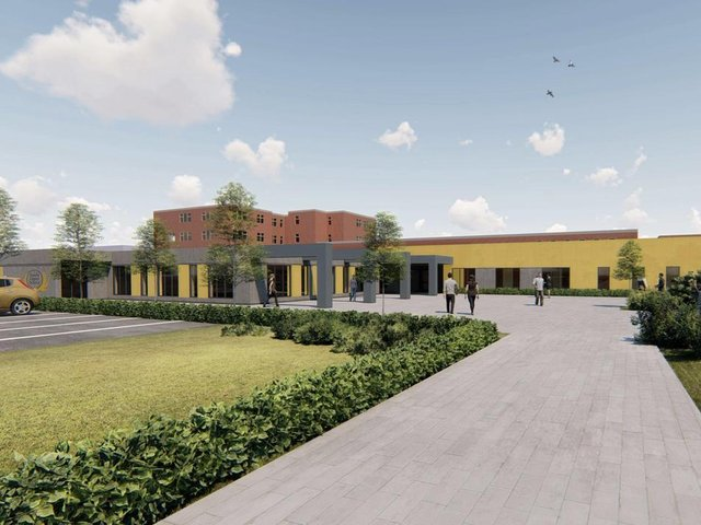 An artist's impression of the school