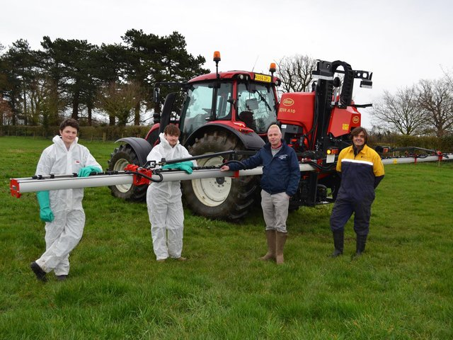 Trainee farmers at Shuttleworth College get to use this £22,000 Vicon crop sprayer
