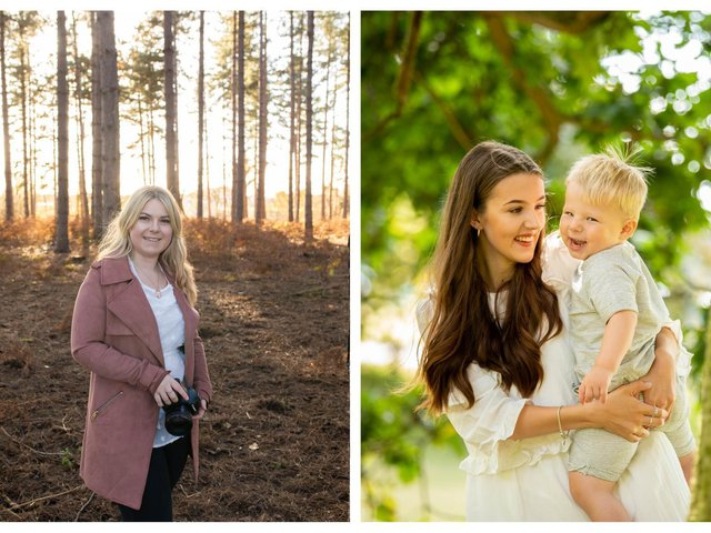 Phoebe, left; and right, mum Catlin and her little one. Photos: Phoebe Berridge Photography.
