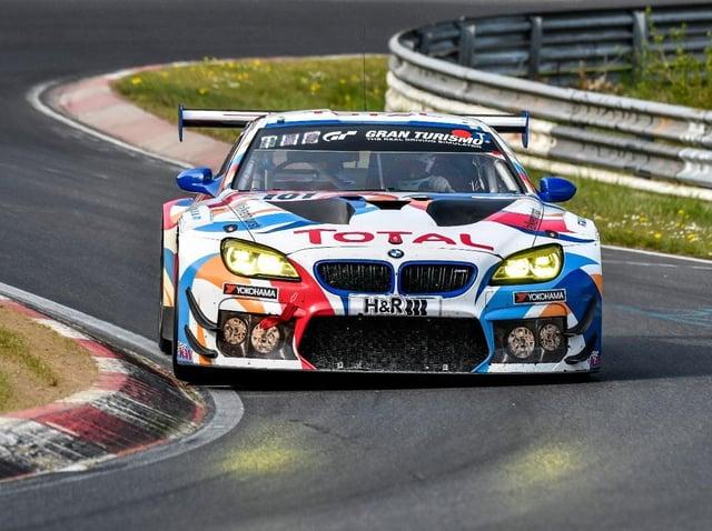 Sandy racing driver Ben Tuck in action