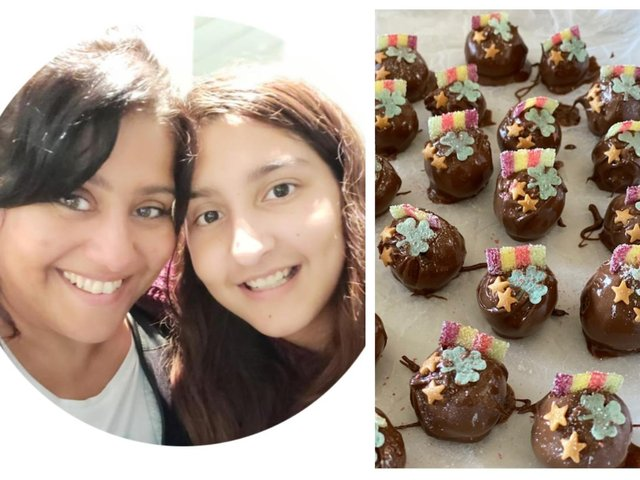 Jyoti and Alicia; their delicious truffles.