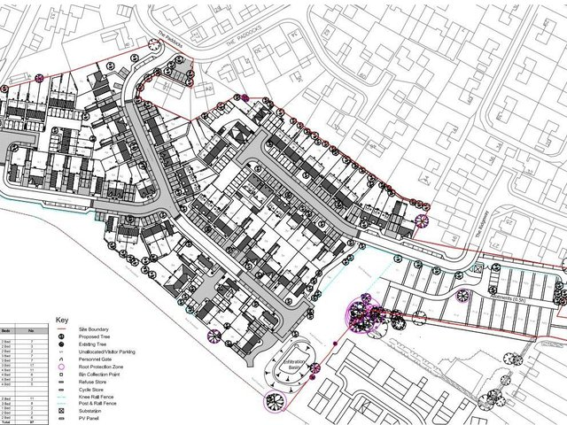 The proposed housing estate.