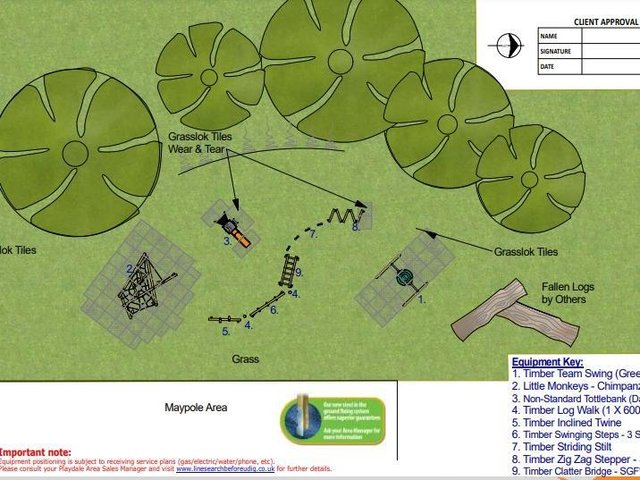 The plans for the playground. Credit: Playdale.