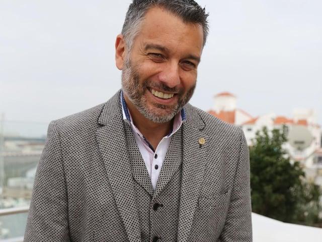 Biggleswade United chairman Guillem Balague