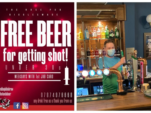 The Rose is offering 25-29 year-olds 'Free Beer for Getting Shot'