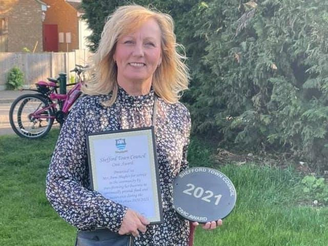 Anne with her award