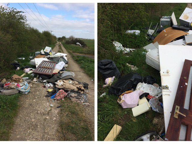 The mess on the Bridle Path near Beamish Close, Sandy. Photo: CBC