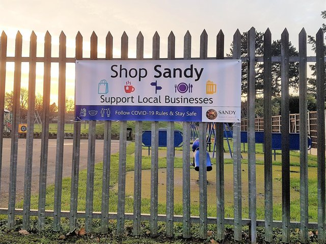 Shop Sandy: Support Local Businesses. Photo: Sandy Town Council.