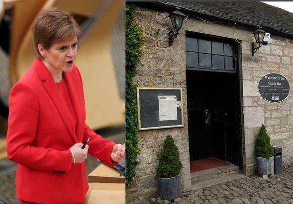 Nicola Sturgeon was pictures at the wake in the Stable Bar and Restaurant